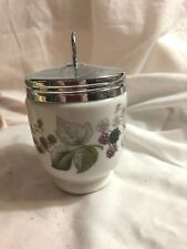 Egg Coddler Royal Worcester Lavinia Berries Blackberries King Size w/ Lid Jar