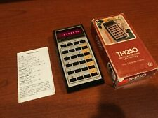 New ListingVintage Texas Instruments Ti-1250 Electronic Calculator Red Led Light Display