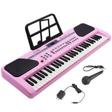 Kids Pink 61 Key Music Electronic Keyboard Electric Digital Piano Organ