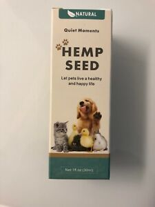 Hemp Oil Moments Calming Drops/Dogs & Cats Helps Reduce Stress