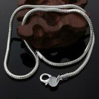 Jewelry Fashion Charming Women/Men Snake Chain Necklace 3mm Silver Plated