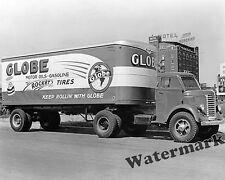 Photograph Diamond T Globe Semi Truck & Spencer Trailer Year 1941 Kansas 8x10