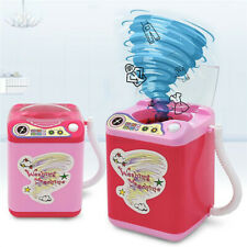 Mini Electronic Washing Machine Kids Play Educational Toy Washer Beauty Sponges