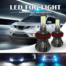 H11 H8 LED 80W Fog Light Lamp Bulbs Car Auto Blue+White Dual Color 9600LM Pair