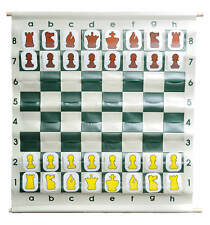 """36"""" Pouch-Style Chess Demonstration Set with Deluxe Carrying Bag - White Plastic"""