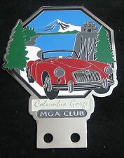 MGA CLUB COLUMBIA CAR GRILL BADGE EMBLEM LOGOS METAL ENAMLED MG JAUGAR TRIUMPH
