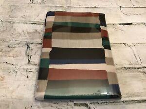 Rare! MCM 1993 Dan River Inc Equinox Stripe Design Percale Pair STD Pillowcases