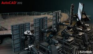 Autodesk AutoCAD 2012 Deutsch Vollversion NEU 3D 64bit 32bit ORIGINAL LIZENZ DVD