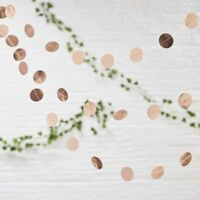 Rose Gold Foil Circle Garland Bunting Wedding Engagement Party Decoration - 5m
