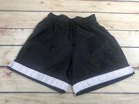 S.A. Gear Boys Youth Size XS Black White Shorts Elastic Waist Drawstring Active