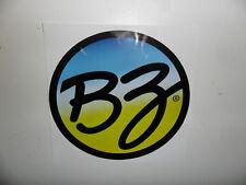 "BZ Bodyboarding Decal Sticker - Blue/ Yellow - Approx. 6"""