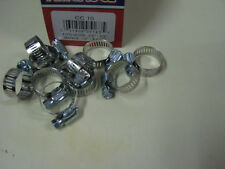 "STAINLESS STEEL BAND HOSE CLAMP 1/2""-1-1/16"" AMGAUGE #10 CLAMPS 10 PIECES"