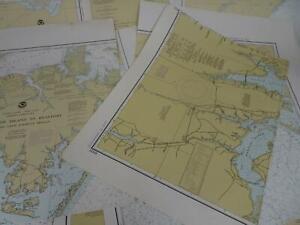 Lot 13 North South Carolina NOAA Nautical Navigational Maps Charts 1970s & 1980s