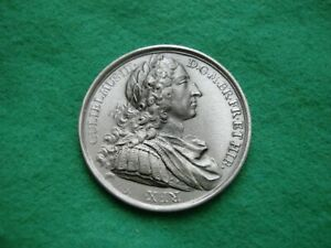 WILLIAM III DASSIER CROWN SIZE MEDAL PEWTER FINISH BY THE LONDON MINT