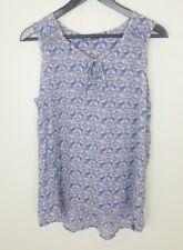 The North Face Womens Shirt Sz L Sleeveless Floral Print Blue Top Cotton Blend