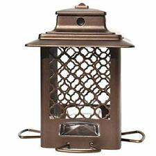 Stokes Select Bird Feeder, Metal Hopper Bird Feeder, 4 Feeding Ports, 3.6 lb Bir
