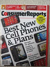 Consumer Reports Magazine January 2011 Best New Cell Phones & Plans