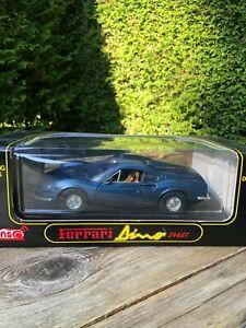 Blauer Ferrari Dino 246 GT von Anson 1/18 in OVP im Top-Zustand