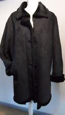 manteau femme noir aspect peau lainé BALMAIN taille 42/44