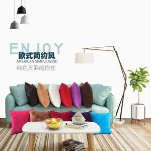 Soft Velvet Square Throw Pillow Cases Home Decor Sofa Waist Cushion Cover ES HOT