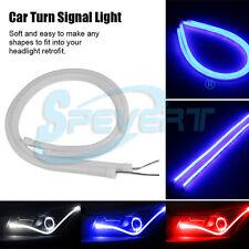 2x60cm Flexible Tube Voiture Bande Led Lumière DRL Turn Signal Fog Lamp Headlamp
