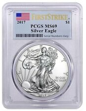 New listing 2017 American Silver Eagle - Pcgs Ms69 - First Strike American Flag