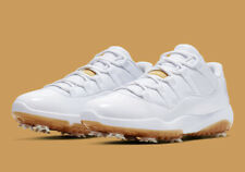 Men's Air Jordan XI 11 Low Golf Shoes -White Gold -Size 9 -AQ0963 102 -NEW-