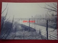 PHOTO  RAIL TRACK AT NORTHAMPTON 1985 COVERED IN SNOW VIEW 1