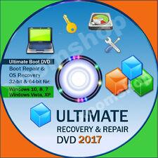 █ Recovery & Repair Reparatur CD DVD für Windows 10 + 8 +7 + Vista +XP 2016 ´17