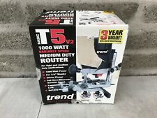 """Trend T5ELB Router 1000w Variable Speed Medium Duty 115v 1/4"""" Power Corded"""