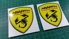 Fiat 500 / 595 / 695 Abarth competizione wing Decals / Stickers 80mm tall