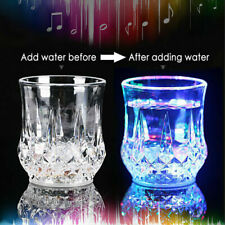 1 LED Wine Whisky Cup Inductive Colorful Light Beer Drink Bar Glass P H7V5