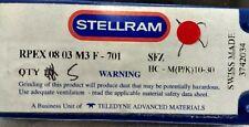 5x Stellram Carbide Milling Inserts RPEX 0803M3F-701  SFZ