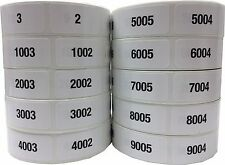 Consecutive Number Labels 34 X 15 Inch Wide 1 Label Per Number Pick A Set