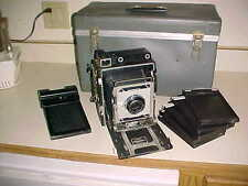 1960 GRAFLEX  CROWN GRAPHIC SPECIAL - 4x5 PRESS CAMERA - w/ POLAROID UNIT 973539