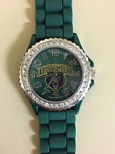 New Women's Watch Baylor Bears Rhinestone Jelly Silicone Bling Glitz