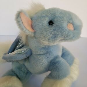 """Vintage 2000 Animal Alley Toys R Us Blue Pegasus Winged Horse Toy Doll Plush 13"""""""