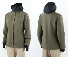 PRADA Ladies GORE - TEX Jacket Ski Style Made in italy size 42 Olive Hooded AUTH