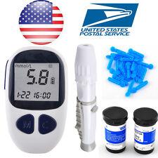 1PC Blood glucose meter Monitor+ 1×Lancing device + 50× Test strips +50× Lancets