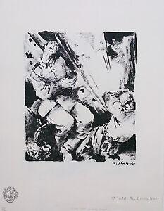 Willy Jaeckel Im Granatfeuer 1915 Lithographie Expressionismus Sezession Berlin