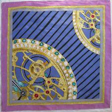- Foulard AUDEMARS PIGUET by Helen Branger soie TBEG  vintage scarf  88 x 88 cm