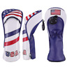 USA Flag Golf Wood Head Cover For Golf Driver Fairway Hybrid UT FW COVER 1 3 5