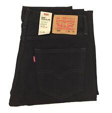 New Levi's Men's 505 Regular Fit Denim Jeans Black Wash 100% Cotton Pants