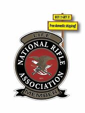 NRA Life time Patch Decal/Sticker National Rifle Association Gun Rights GN50