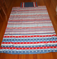 Target  brand single bed stars/stripes design doona cover set and fitted sheet