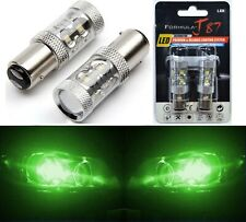 LED Light 50W 1157 Green Two Bulbs Front Turn Signal Replace Show Color Upgrade