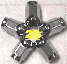 1/2x20 CHRM WHEEL LUG NUTS MAGNUM 500 MUSTANG RANGER FORD MERCURY CHEVY C10 JEEP