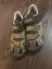 Giro Reva Women's  Cycling Shoes Size 6.5 Khaki/Brown /Sky-VGUC