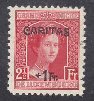 Luxembourg 1924 - Duchess Adelaide 1F on 2½F Red - SG229 Mint Hinged (D22G)
