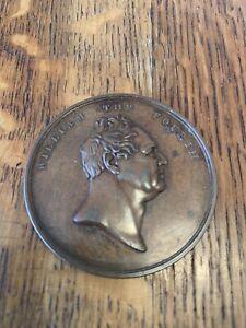 1831 William IV Opening Of London Bridge Bronze Medallion 1831. Large Medal